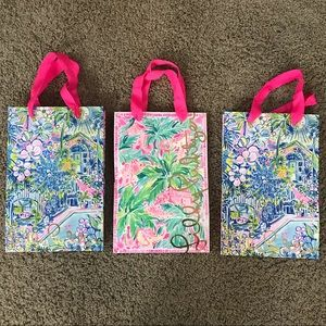 Lilly Pulitzer Set of 3 shopping bags